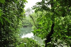 views of Rio Celeste in Costa Rica