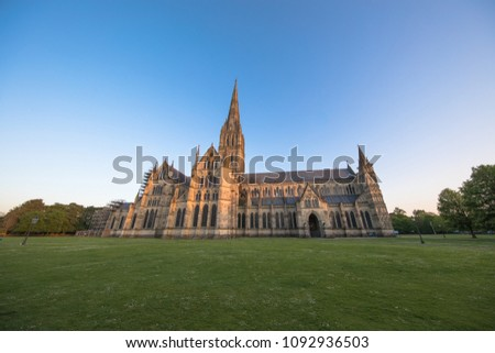 Views of Salisbury Cathedral, Salisbury, Dorset, UK #1092936503
