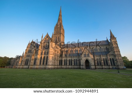 Views of Salisbury Cathedral, Salisbury, Dorset, UK #1092944891