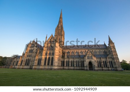 Views of Salisbury Cathedral, Salisbury, Dorset, UK #1092944909
