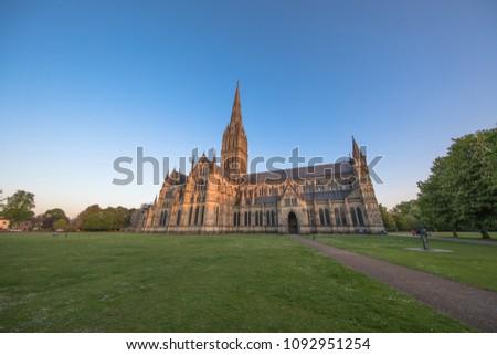 Views of Salisbury Cathedral, Salisbury, Dorset, UK #1092951254