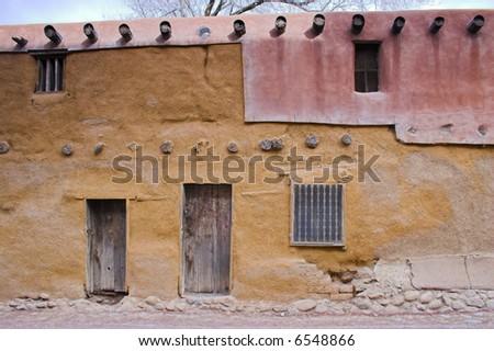Views of streets at the historic down town Santa Fe