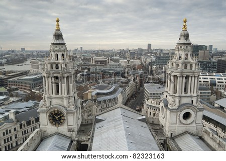 Views of The City of London from St Paul's Cathedral