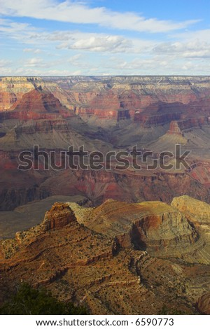 Views of the Grand Canyon on Colorado river in Arizona