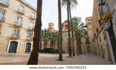 Views of the plaza de la Santisima Faz behind the Alicante Town Hall Foto stock ©