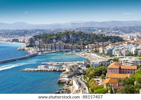 Views of the port Limpia, Nice, French Riviera