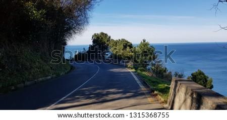 Views of the sea from Mount Igueldo in Donostia - San Sebastian. #1315368755