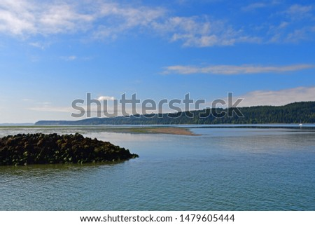 Views of the shoreline of the Swinomish Channel and Deception Pass in Washington State