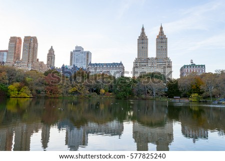 Views of two of the most iconic buildings of the Upper West Side (San Remo and Dakota) from The Lake #577825240