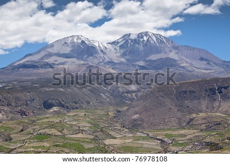 Views of Valley of Putre, at the Chilean altiplano (at an altitude of 3,500 m)