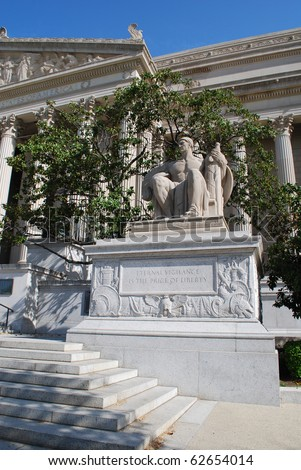 Vigilance Sculpture in Front of National Archives Building, Washington, DC