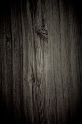 vignette black wood background and texture. abstract background and vintage black wood for decoration.