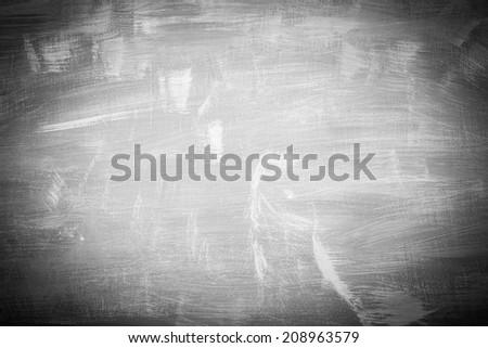 Vignette  of Blackboard texture. Empty dark background.