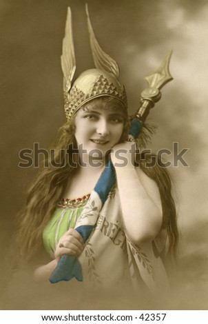 viking girl   a circa 1900 ...
