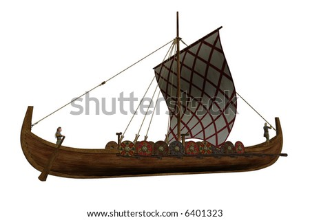 Viking Longboat Stock Photo 6401323 : Shutterstock