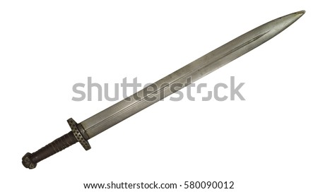 Viking sword medieval Norman Slavs Russian cold steel blade stabbing slashing a double-edged weapon forged knight warrior ancient #580090012