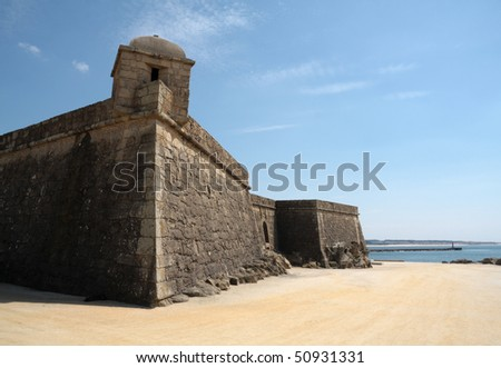 Vila do Conde Beach Fort - stock photo
