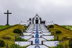 Vila Franca do Campo, Portugal, Ermida de Nossa Senhora da Paz. Our Lady of Peace Chapel in Sao Miguel island, Azores. Our Lady of Peace Chapel, Sao Miguel island, Azores, Portugal.