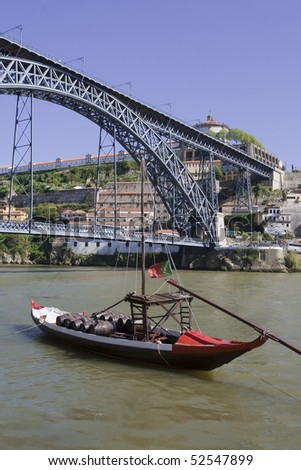 Vila Nova de Gaia view from Porto side, Portugal