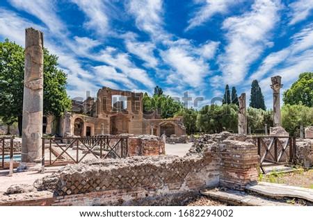 Villa Adriana ( Hadrian's Villa) in Tivoli, Italy Stock fotó ©