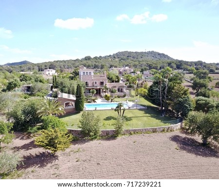 Villa aerial view