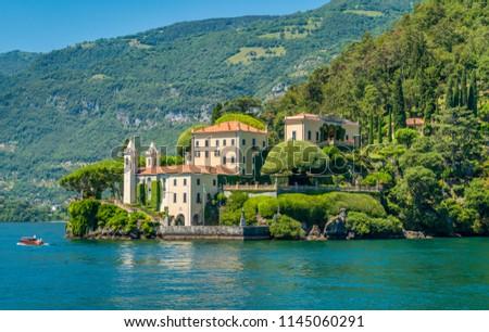 Villa del Balbianello, famous villa in the comune of Lenno, overlooking Lake Como. Lombardy, Italy. #1145060291