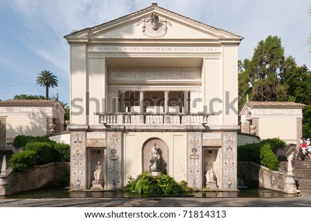 Villa of Pius IV in Vatican Gardens, Rome, Italy - stock photo