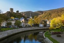 Village Esch sur Sure in Luxembourg - travel background