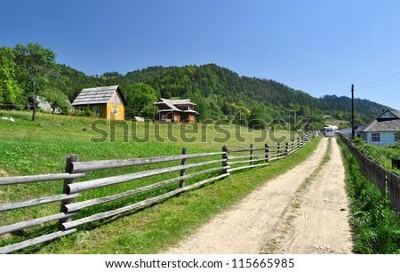 village in Carpathians mountains