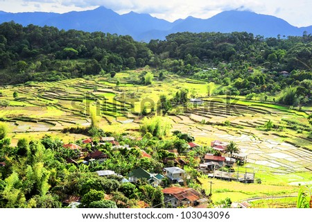 Village in Cordillera mountains, Luzon, Philippines