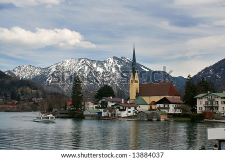 village near lake Tegernsee in South-Germany
