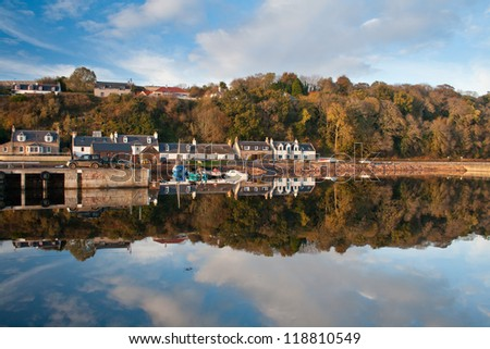 Village of Avoch on the Black Isle, Highlands of Scotland.