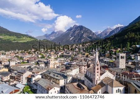 Village of Bormio, Valtellina. Important ski station in the Italian Alps #1106472746