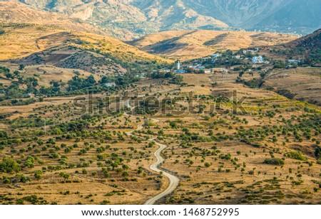 Village of Ihlale Al Oued near Chefchaouen in Morocco Stok fotoğraf ©