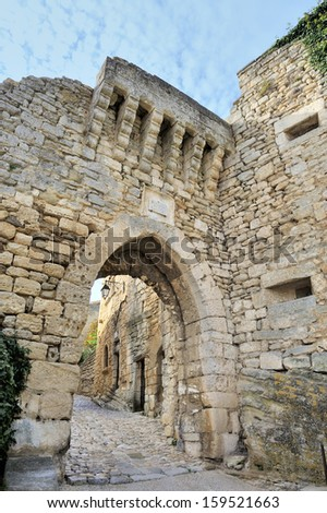 Village of Lacoste in the Luberon, France. This village was in the past the homecity of the Marquis de Sade. Fashion designer Pierre Cardin owns and  has restored the old castle