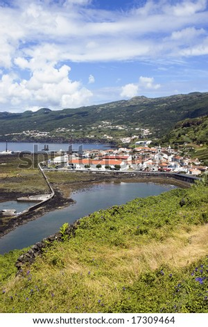 Village of Lages do Pico in Pico island, Azores, Portugal