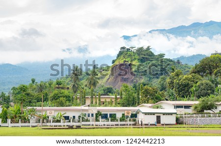 Village of Limbe in Cameroon, west africa. African villagers in Cameroon. Foto stock ©