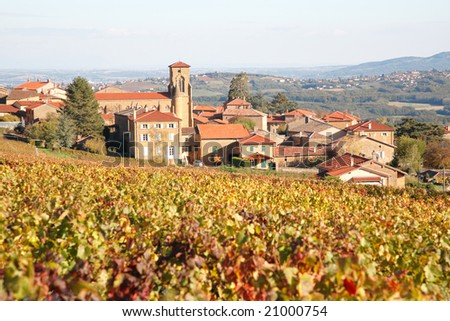 Village of Theize in Beaujolais