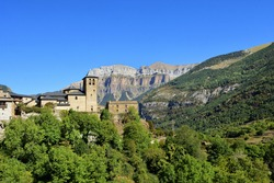 village of Torla, Ordesa and Monte Perdido, National Park, Huesca province, Aragon, Spain