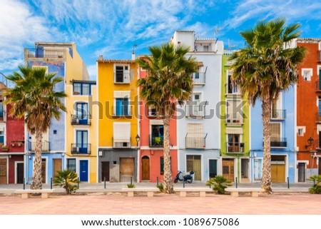 Village of Villajoyosa, Costa Blanca, Spain at springtime #1089675086