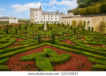 Villandry chateau  in the Loire Valley in  France