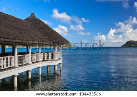 Villas on the tropical beach