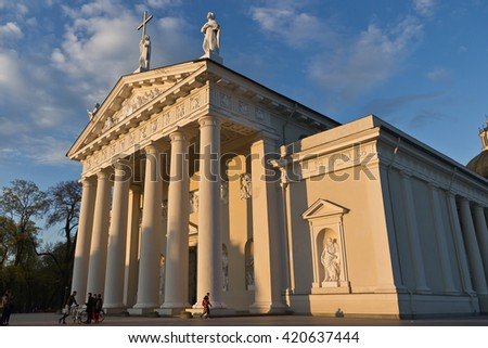 vilnius cathedral  lithuania