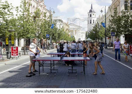 VILNIUS, LITHUANIA - AUGUST 11: Street sport weekends in Vilnius on August 11, 2013. Traditional street sports festivals held annually early August.