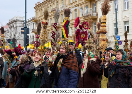 VILNIUS, LITHUANIA - MARCH 7: Annual Lithuanian folk arts and crafts Kaziukas Fair held on weekend nearest to St. Casimir's Day Mar 7, 2009 in Vilnius. It attracts tens of thousands of visitors.