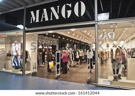 Mango Fashion Store Editorial Stock Image - Image: 36898469