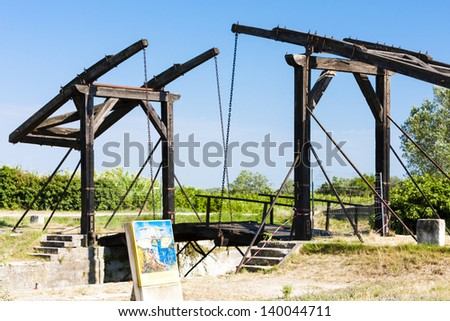 Vincent van Gogh bridge near Arles, Provence, France - stock photo
