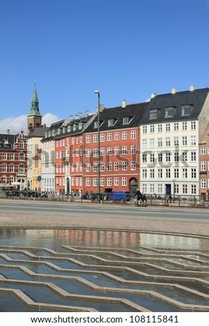 Vindebrogade Street and Nybrogade Street, Copenhagen, Denmark