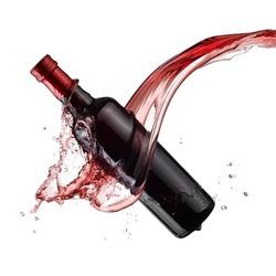 Vinegar bottle splash
