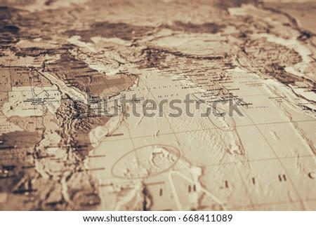 Vinnitsa, Ukraine - December 6, 2016: The world map, abstract background, travel concept #668411089